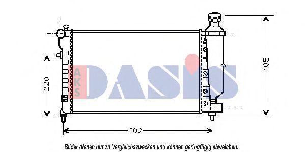 Радиатор, охлаждение двигателя AKS DASIS 060035N