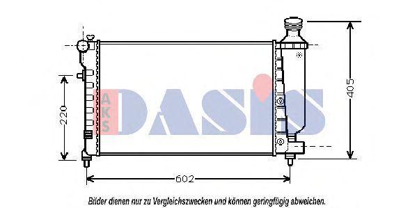 Радиатор, охлаждение двигателя AKS DASIS 060036N