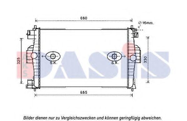 Радиатор, охлаждение двигателя AKS DASIS 060047N