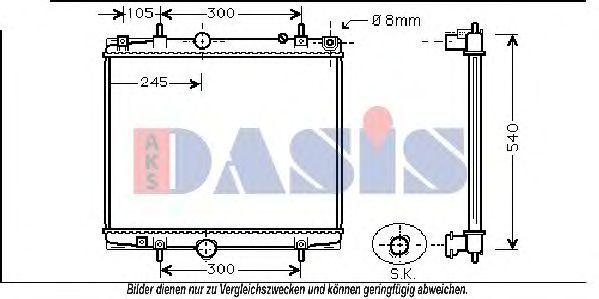Радиатор, охлаждение двигателя AKS DASIS 060049N