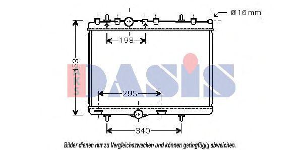 Радиатор, охлаждение двигателя AKS DASIS 060051N