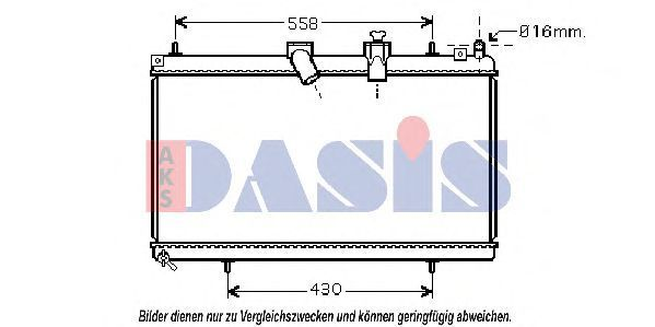 Радиатор, охлаждение двигателя AKS DASIS 060059N