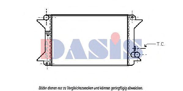 Радиатор, охлаждение двигателя AKS DASIS 060060N