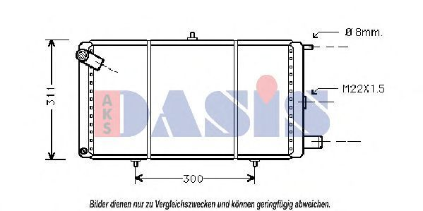 Радиатор, охлаждение двигателя AKS DASIS 060150N