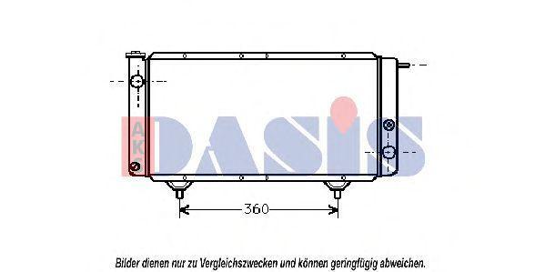 Радиатор, охлаждение двигателя AKS DASIS 060160N