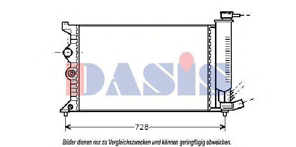 Радиатор, охлаждение двигателя AKS DASIS 060170N