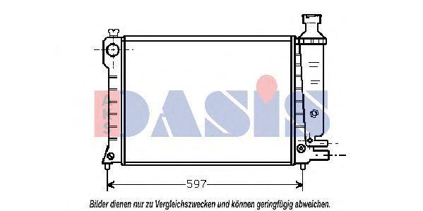 Радиатор, охлаждение двигателя AKS DASIS 060190N