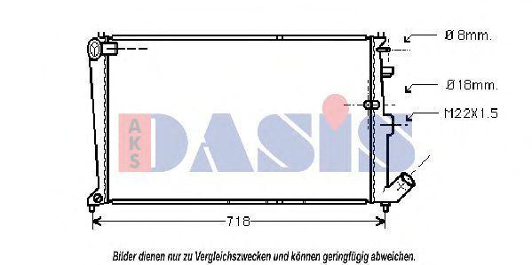 Радиатор, охлаждение двигателя AKS DASIS 060220N