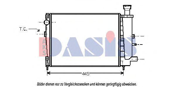 Радиатор, охлаждение двигателя AKS DASIS 060270N