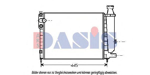 Радиатор, охлаждение двигателя AKS DASIS 060340N