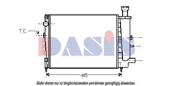 Радиатор, охлаждение двигателя AKS DASIS 060360N