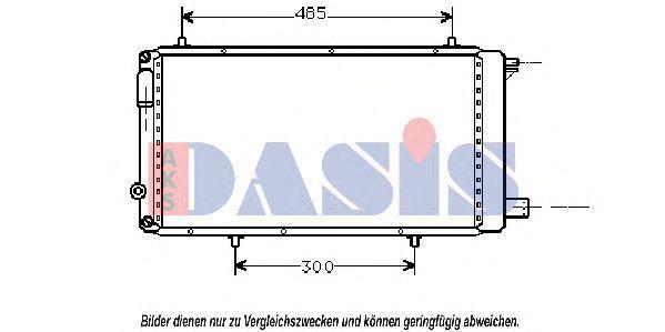 Радиатор, охлаждение двигателя AKS DASIS 060490N