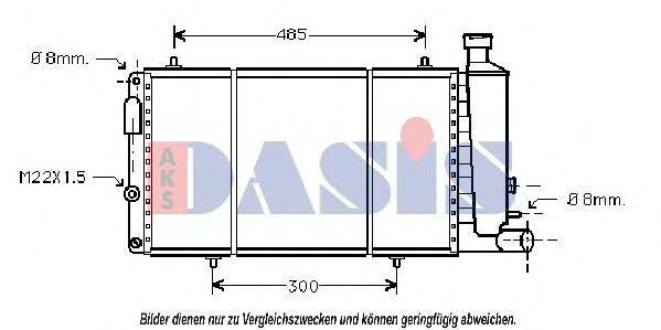 Радиатор, охлаждение двигателя AKS DASIS 060540N