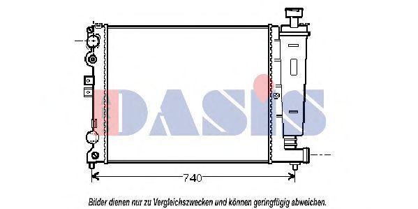 Радиатор, охлаждение двигателя AKS DASIS 060560N