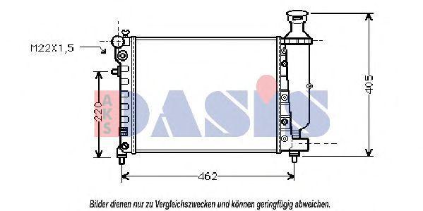 Радиатор, охлаждение двигателя AKS DASIS 060780N