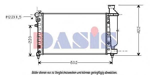 Радиатор, охлаждение двигателя AKS DASIS 060810N