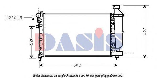 Радиатор, охлаждение двигателя AKS DASIS 060920N