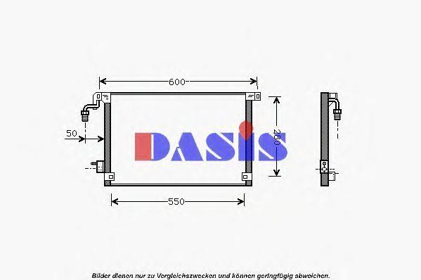 Конденсатор, кондиционер AKS DASIS 062002N