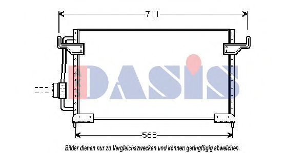 Конденсатор, кондиционер AKS DASIS 062100N