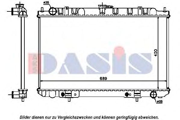Радиатор, охлаждение двигателя AKS DASIS 070104N