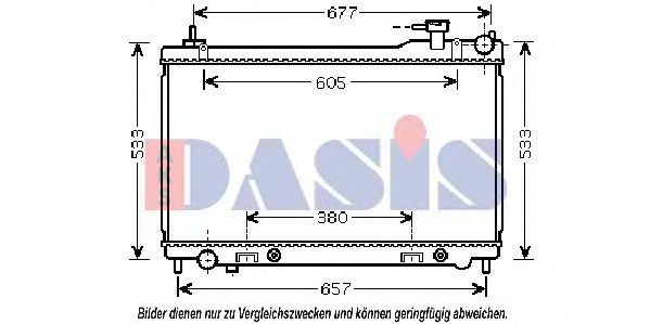 Радиатор, охлаждение двигателя AKS DASIS 070144N