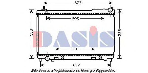 Радиатор, охлаждение двигателя AKS DASIS 070145N