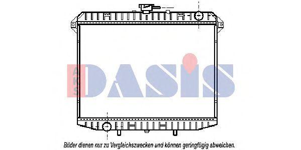 Радиатор, охлаждение двигателя AKS DASIS 070290N