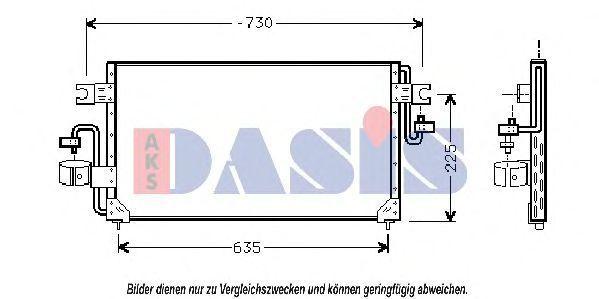 Конденсатор, кондиционер AKS DASIS 072005N
