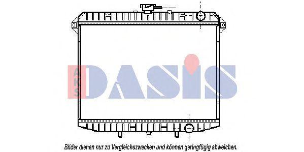 Радиатор, охлаждение двигателя AKS DASIS 073200N