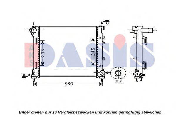 Радиатор, охлаждение двигателя AKS DASIS 080001N