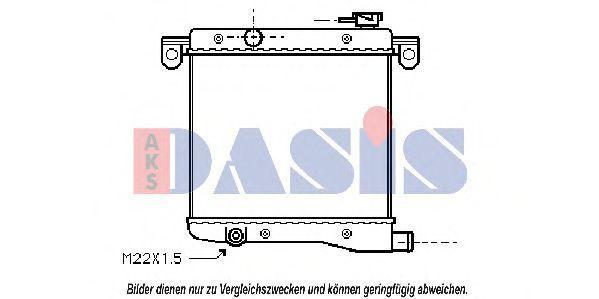 Радиатор, охлаждение двигателя AKS DASIS 080030N