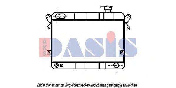 Радиатор, охлаждение двигателя AKS DASIS 080050N