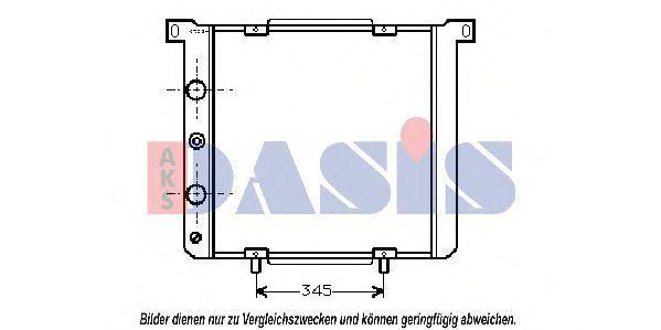 Радиатор, охлаждение двигателя AKS DASIS 080080N