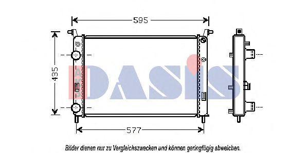 Радиатор, охлаждение двигателя AKS DASIS 080086N