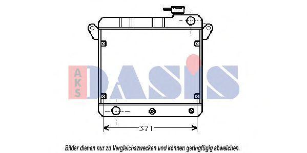 Радиатор, охлаждение двигателя AKS DASIS 080090N