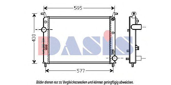 Радиатор, охлаждение двигателя AKS DASIS 080099N
