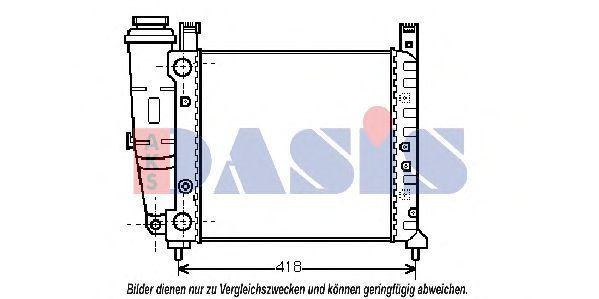 Радиатор, охлаждение двигателя AKS DASIS 080110N