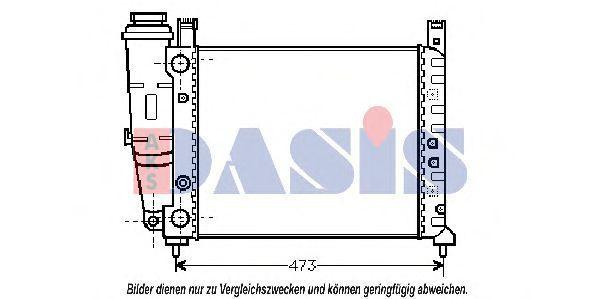 Радиатор, охлаждение двигателя AKS DASIS 080130N