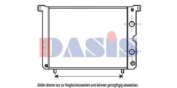 Радиатор, охлаждение двигателя AKS DASIS 080140N