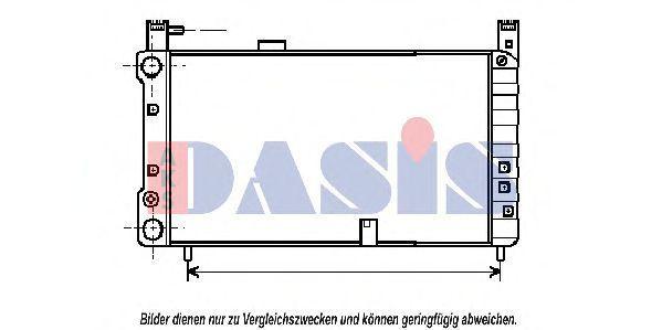 Радиатор, охлаждение двигателя AKS DASIS 080220N