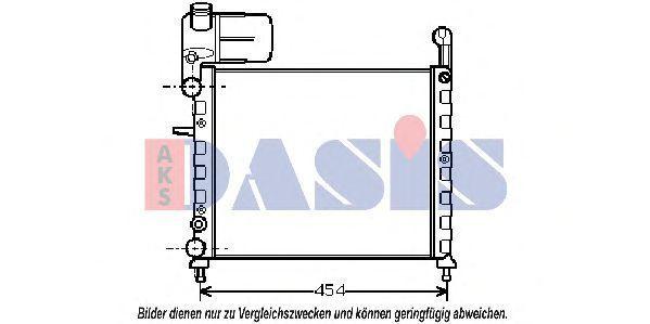 Радиатор, охлаждение двигателя AKS DASIS 080320N