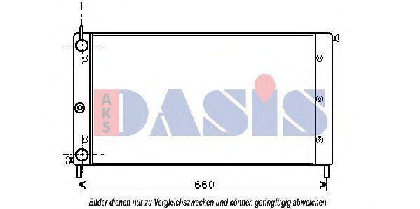 Радиатор, охлаждение двигателя AKS DASIS 080550N