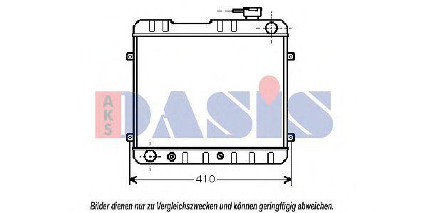 Радиатор, охлаждение двигателя AKS DASIS 080610N