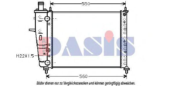 Радиатор, охлаждение двигателя AKS DASIS 081030N
