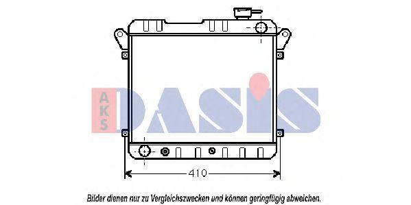 Радиатор, охлаждение двигателя AKS DASIS 081160N