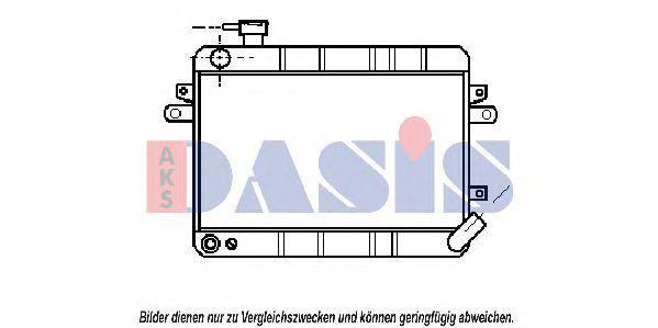 Радиатор, охлаждение двигателя AKS DASIS 081310N