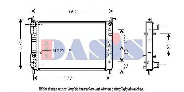 Радиатор, охлаждение двигателя AKS DASIS 081470N