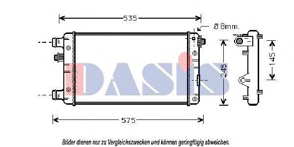 Радиатор, охлаждение двигателя AKS DASIS 081520N