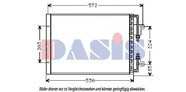 Конденсатор, кондиционер AKS DASIS 082000N