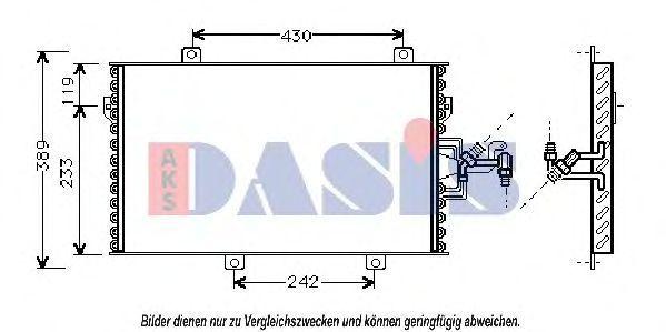 Конденсатор, кондиционер AKS DASIS 082025N